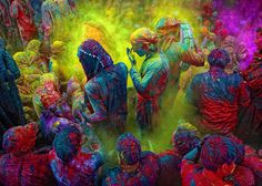 The festival of Holi always involves an explosion of colour © Poras Chaudhary / Getty Images