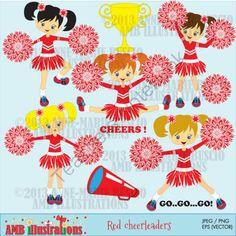 Little red cheerleaders clipart 213 from Bestteachertools on TeachersNotebook.com - (9 pages) - cheerleaders clipart, cheerleaders clip art, trophy clip art, trophy clipart, cheers clipart, red school colors clipart, red cheerleaders