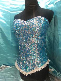 7dae92d09a Elsa costume corset top disney princess inspired