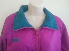 Columbia Men's Jacket L Two Views Pink & Green Solid Raincoat Nylon Full Zipper #Columbia #Raincoat #ebay #Columbia #Raincoat