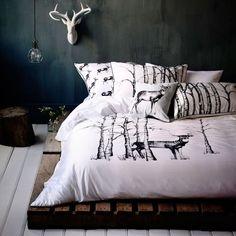 biber bettw sche hirsch blau aus flauschig weicher baumwolle kuscheln sie sich in die. Black Bedroom Furniture Sets. Home Design Ideas