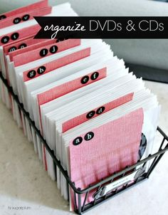 Hi Sugarplum | Organize DVDs And CDs...no More Piles Of Cases!
