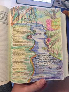 Psalm 1, my first attempt at bible journaling!