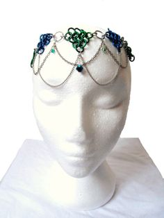 Renaissance Wedding Circlet Chainmail Necklace by SerenityInChains, $40.00