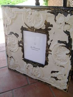 Picture frame made from Antique Ceiling Tin