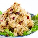 Peanut butter potatoe salad. With cranberries and celery.