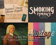 Creating authentic vintage design is tough. This bundle is everything you need!