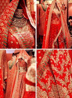 Raag main, tu raagini hai — aashiqaanah: Sabyasachi at Vogue Wedding show. Indian Bridal Wear, Asian Bridal, Indian Wedding Outfits, Bridal Outfits, Wedding Attire, Indian Outfits, Bridal Dresses, Indian Clothes, Indian Wear
