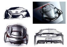 TOYOTA FT-86 Concept Image sketch