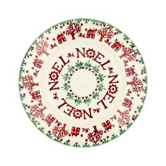 Christmas Joy Noel 8 inch plate from Emma Bridgewater. Christmas China, Christmas Town, Woodland Christmas, Christmas Plates, Christmas Gift Guide, Christmas Crafts, Xmas, Christmas Ideas, Emma Bridgewater Pottery