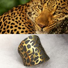 Animal Print. Silver and 22kt gold