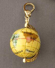 Locket necklace world globe map jewelry locket necklace planet globe want this pretty yellow globe sciox Choice Image