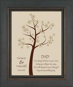 Wedding Gift for DAD from Bride Thank you by KreationsbyMarilyn, $15.00