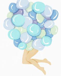 @miss_colour_me_bad balloons fantasy illustration