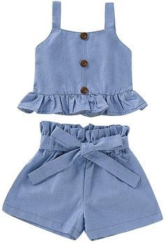 Baby Girl Skirts, Kids Outfits Girls, Little Girl Dresses, Girl Outfits, Denim Outfits, Girls Fashion Clothes, Baby Girl Fashion, Mode Kimono, Kids Dress Wear