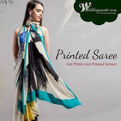 Printed Sarees: get prints get printed sarees…  #Sarees #WomenSarees #PrintedSarees #OnlineSarees #SareesOnSale #FashionableSarees #LatestSarees #StylishSarees #Clothings #WomenClothings