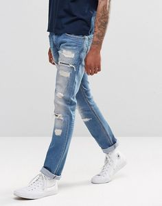 Browse online for the newest Diesel Thavar Slim Jeans Heavy Distress Repair styles. Shop easier with ASOS' multiple payments and return options (Ts&Cs apply). Jogg Jeans, Diesel Jeans, Slim Jeans, Fashion Online, Asos, Shopping