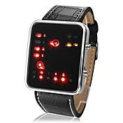 LightInTheBox Top Selling Discount High Quality Unisex LED Binary System Display Black PU Leather Wrist Watch Fashion Watches for Men or Women Mens Watches Online, Cheap Watches For Men, Led, Calendar Date, Watch Brands, Sport Watches, Fashion Watches, Men's Fashion, Digital Watch