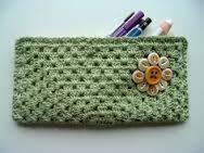 crochet pencil case by cornflowerbluestudio, Crochet Pencil Case, Crochet Pouch, Crochet Gifts, Crochet Stitches, Crochet Patterns, Hat Patterns, Love Crochet, Diy Crochet, Crochet Hooks
