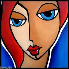 Mama Said - Original Abstract HUGE Modern POP Art Deco Painting by Fidostudio