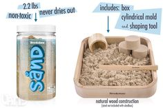 Sånd by Brookstone: No-mess kinetic play sand made of real sand and polymer. My kids love this stuff for sensory play, and I love that it doesn't make a giant mess!