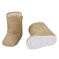 "Khaki Baby Fleece Solid Snow Boot | ""#Baby #Toddler #gear # #Boy #Girl #Feeding #Nursing #Nursery #Diapering #Accessories #AtHome #Bath #Bedding #Strollers #Decor #Play #Clothing #Shoes #Bedroomdecor """