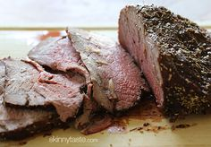 Garlic Lover's Roast Beef. I like to serve this with broccoli with smashed garlic and skinny mashed potatoes... in my house, there's never too much garlic. great for sandwiches.