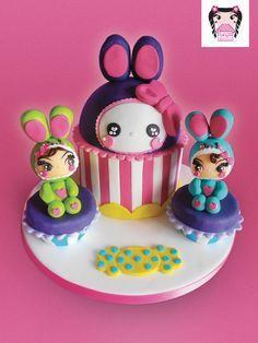 kawaii style birthday cake - Google Search