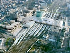 Undulating roof covers Benthem Crouwel's rail and bus station in Utrecht Central Station, Bus Station, Train Station, Utrecht, Minecraft City, Bus Terminal, Roof Covering, Train Rides, Public Transport