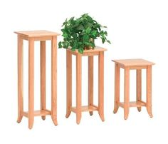 Amish Geneva Plant Stand Just right for displaying your precious plants. The Geneva sets off the look nicely in solid wood. Choose just the right size for any room. #plantstands