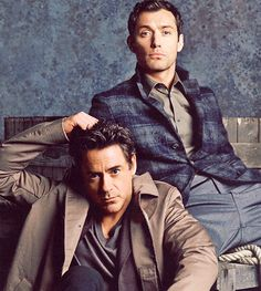 Robert Downey, Jr. and Jude Law. The modern Detectives ;)