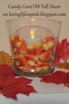 Loving Life In Pink: Fall DIY Decor: Candy Corn lovinglifeinpink.blogspot.com