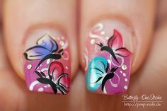 Nail art with a Low Budget: Hot or Not: One Stroke Nail Art