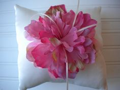 Pink Peony Ring Bearer Pillow by DaniCalve on Etsy, $22.00
