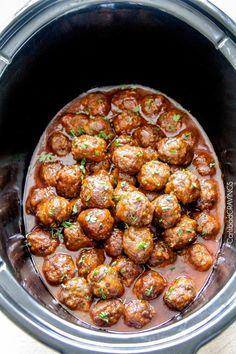 Slow Cooker Honey Buffalo Meatballs Crock Pot Slow Cooker, Crock Pot Cooking, Slow Cooker Recipes, Beef Recipes, Cooking Recipes, Healthy Recipes, Meatball Recipes, Crockpot Meals, Crockpot Dishes