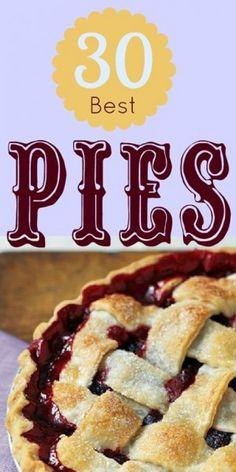 30 Best Pie Recipes | Remodelaholic.com  #pies #desserts #recipes