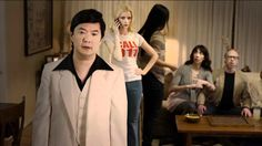 Ken Jeong teaches hands-only CPR.  Call 911 and push hard & fast on the center of the chest. (American Heart Association)
