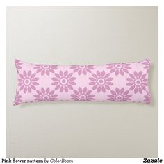 Pink flower pattern body pillow Pink Cushions, Flower Pillow, Soft Light, Decorative Cushions, Flower Patterns, Soft Fabrics, Pink Flowers, Vibrant Colors, Pink Throw Pillows