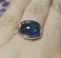 Now selling: Sapphire Ring   Blue Sapphire Ring    Sterling Silver Ring sz 9   Blue Stone Ring   September Birth... https://www.etsy.com/listing/400541143/sapphire-ring-blue-sapphire-ring?utm_campaign=crowdfire&utm_content=crowdfire&utm_medium=social&utm_source=pinterest