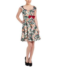 Look at this #zulilyfind! Red & Green Berries Leda A-Line Dress - Plus Too #zulilyfinds