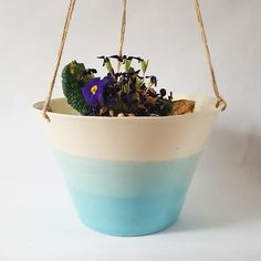 Hanging Porcelain Planter Large Size-Other Colors Available