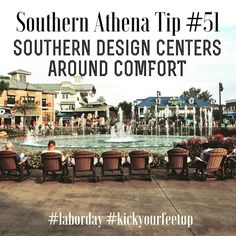 Southern design centers around comfort. #southernathenatips #laborday #kickyourfeetup #soco #pigeonforge #rockingchairs #relaxing #realestate