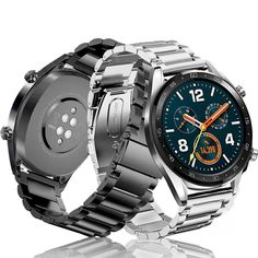 stainless steel bracelet for samsung galaxy watch band Frontier/Classic strap huami amazfit huawei watch gt belt Huawei Watch, Casio Watch, Samsung S2, Samsung Galaxy, G Watch, Stainless Steel Bracelet, Smart Watch, Belt, Watches