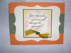 Thanksgiving card using Stampin Up products.