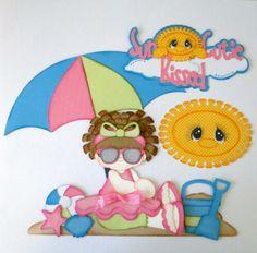 Sun Kissed Cutie Summer Paper Piecing Set Premade 4 Borders Scrapbooks Albums | eBay Treasure Box Designs