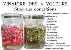Vinaigre des 4 voleurs - Marie-Line Dupuy Naturo-Énergeticienne Natural Cures, Natural Healing, Healthy Tips, Healthy Recipes, Healthy Food, Health And Wellness, Health Fitness, Sports Food, Nutrition