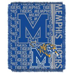 Memphis Tigers Jacquard Throw Blanket by Northwest, Multicolor