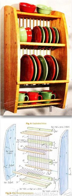 Plate Rack Plans - Furniture Plans and Projects | WoodArchivist.com