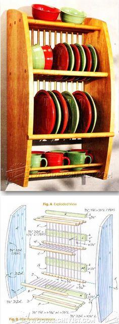 Plate Rack Plans - Furniture Plans and Projects | WoodArchivist.com