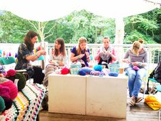 Crocheting with Mollie Makes at the Folksy Summer School. Photo by Ruby McGrath http://folksy.com/shops/FrankandOlive